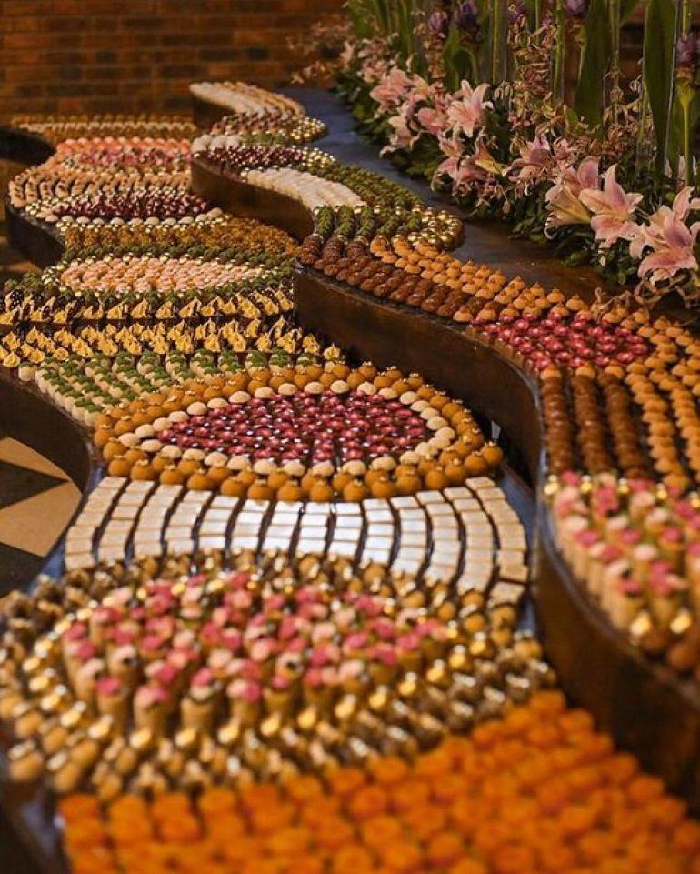 Mesa mosaico de doces