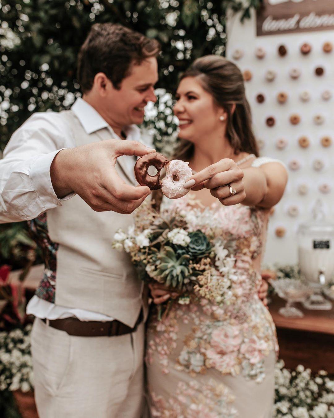 Donuts tendëncia de casamento - Foto: Caroline Moschei