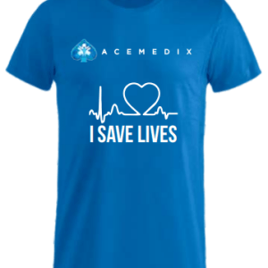 Acemedix I Save Lives T-Shirt – Blue