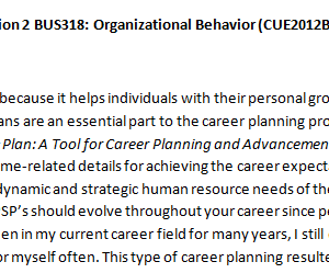 Week 1 - Discussion 2 BUS318: Organizational Behavior (CUE2012B) ASHFORD UNIVERSITY