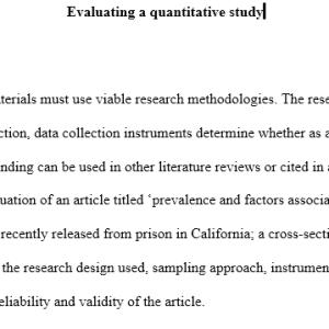 evaluating quantitative study