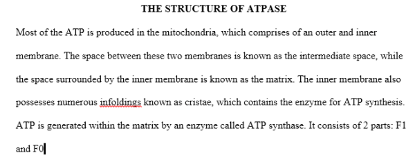 structure of Atpase