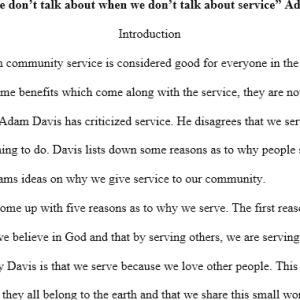 why we serve- Adam Davis