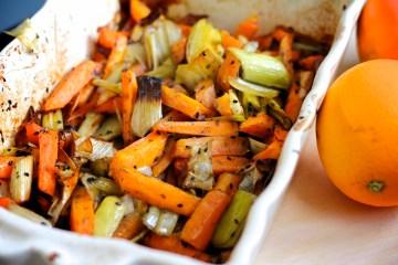 Carote all'arancia al forno