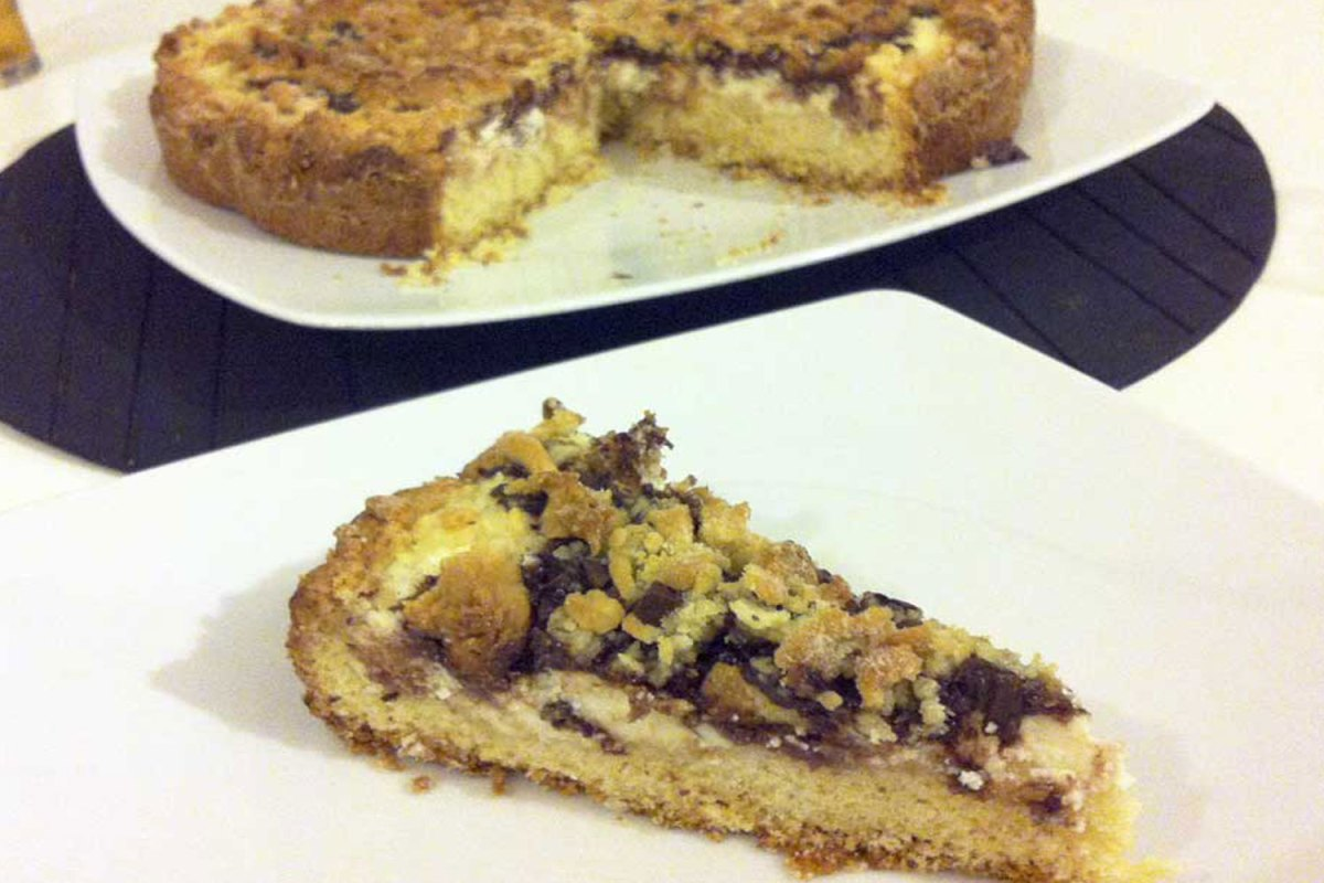 Torta sbriciolata ricotta e cioccolato