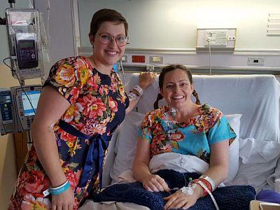 Erinn and Stephanie Kidney Transplant