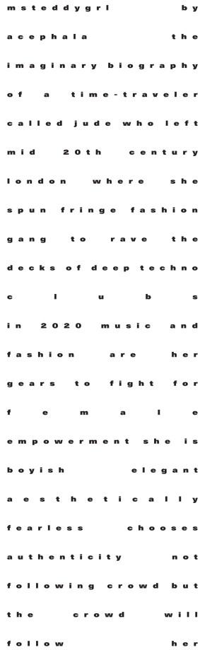 Acephala Aw2019 20 Text Print