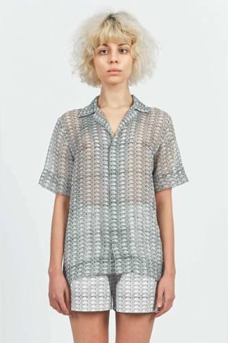 Acephala Printed Chiffon Cotton Pyjama Set 3 Front Lb