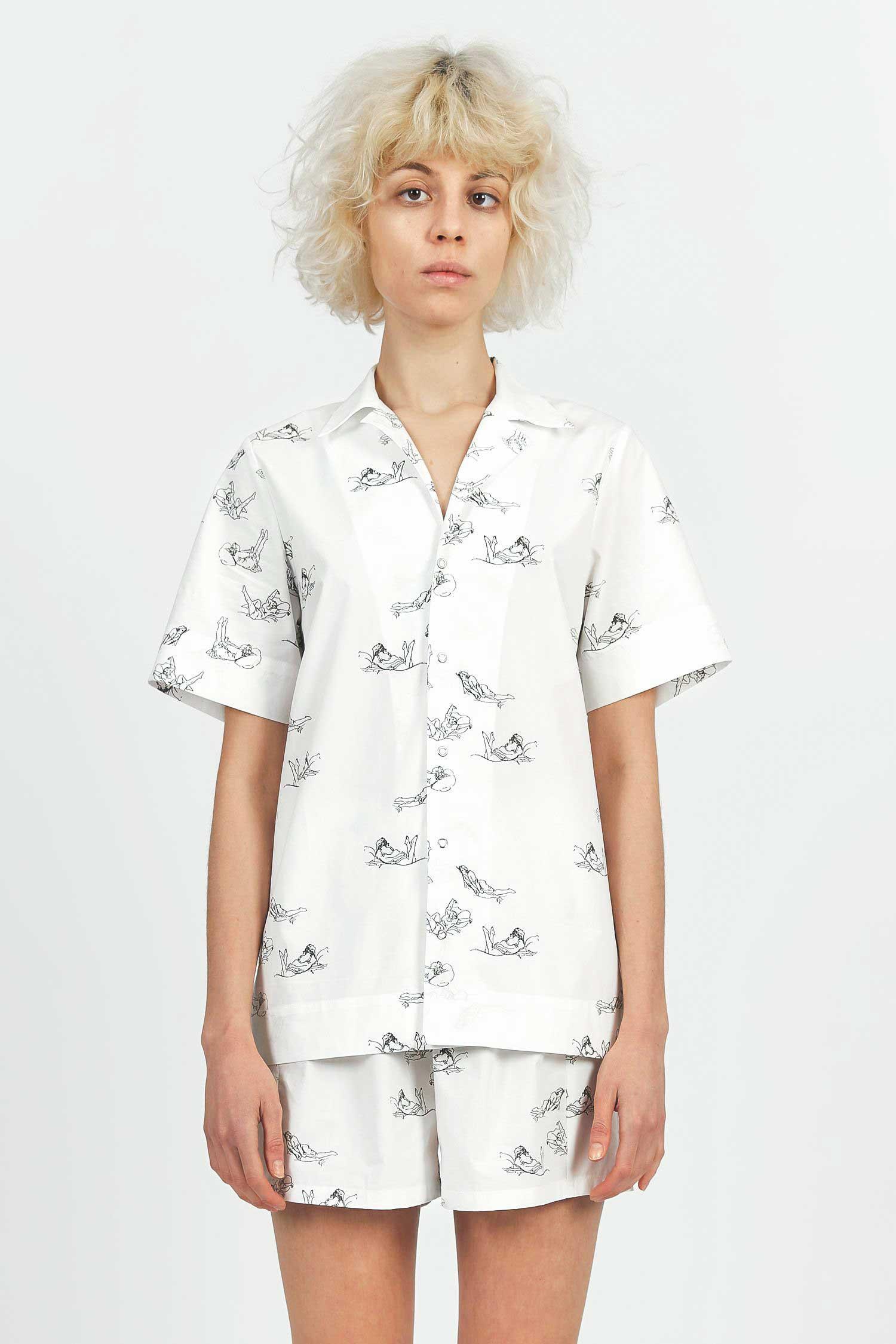 Acephala Printed Cotton Pyjama Set 1 Front