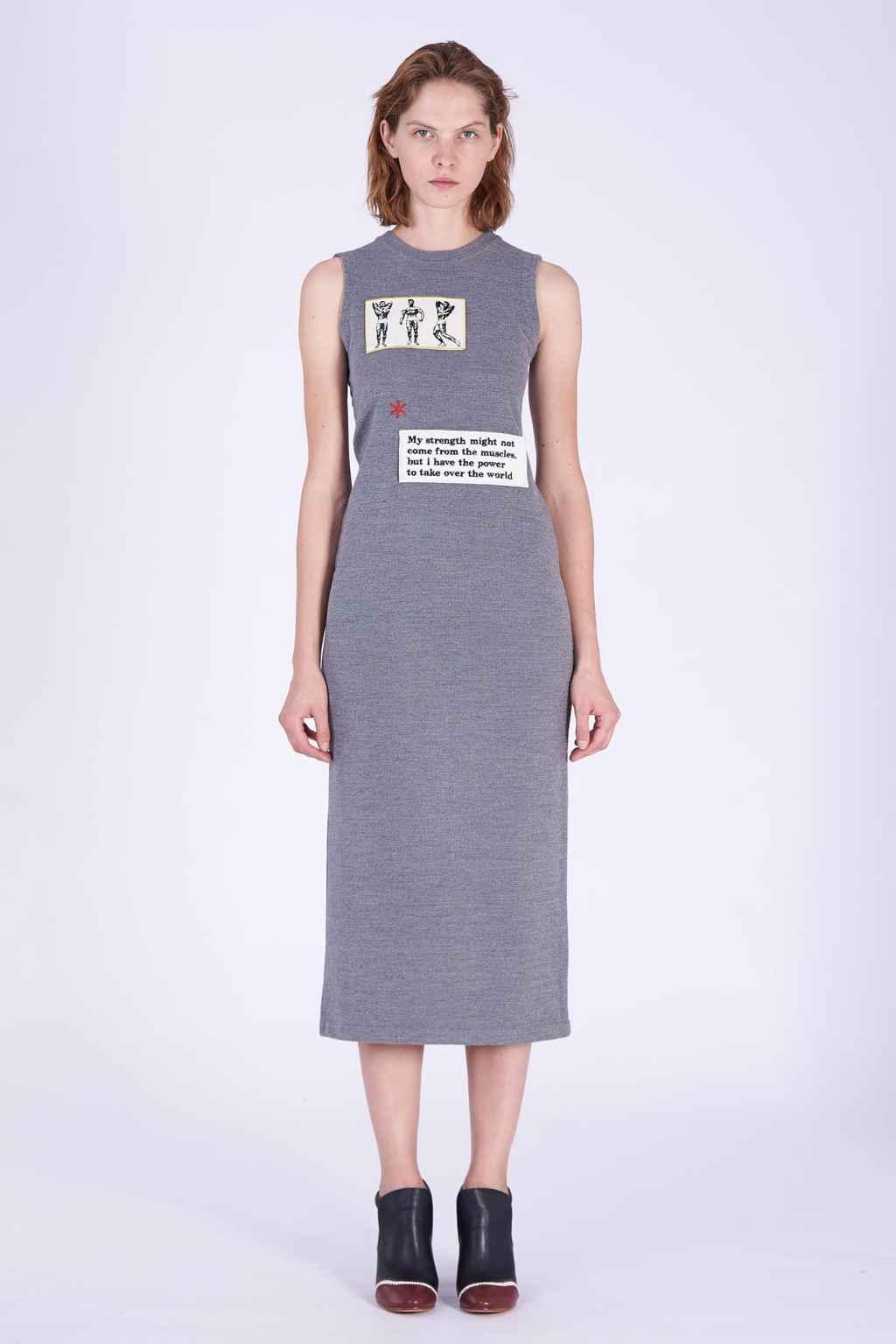 Acephala AW2018-19 Grey Wool Jersey Tube Dress // Szara Wełniana Sukienka Tuba