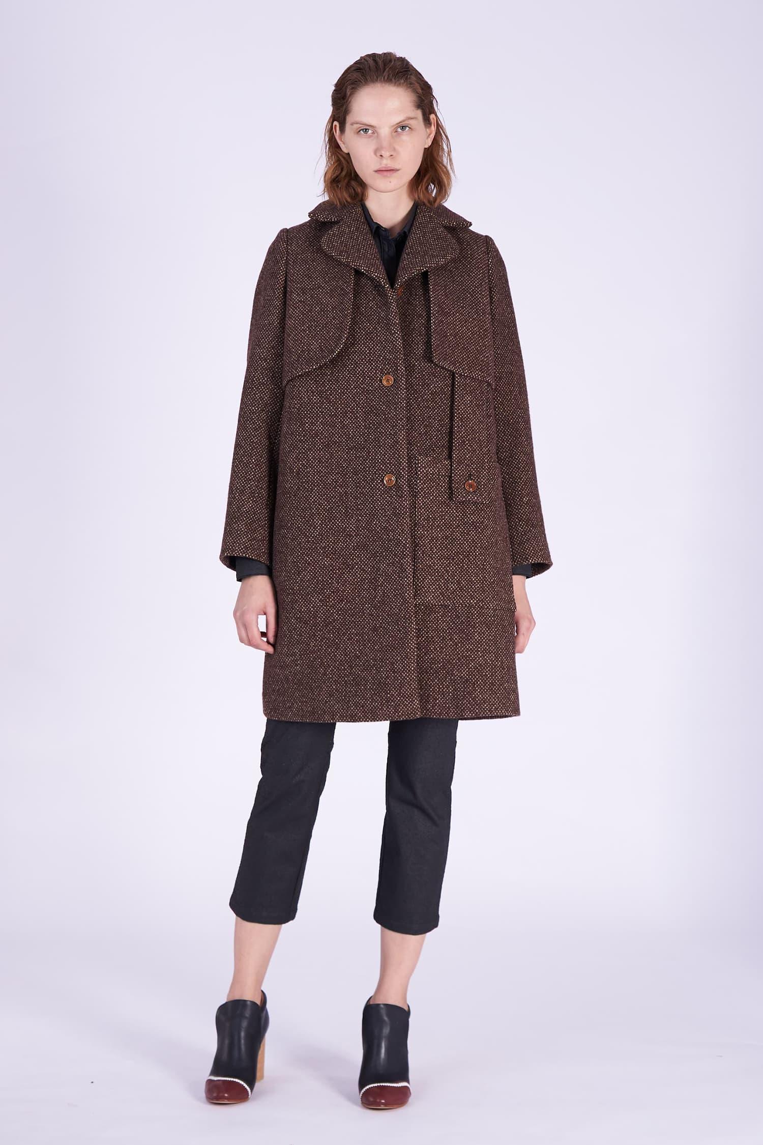 Acephala AW2018-19 Brown Woolen Coat // Brazowy Płaszcz Wełniany