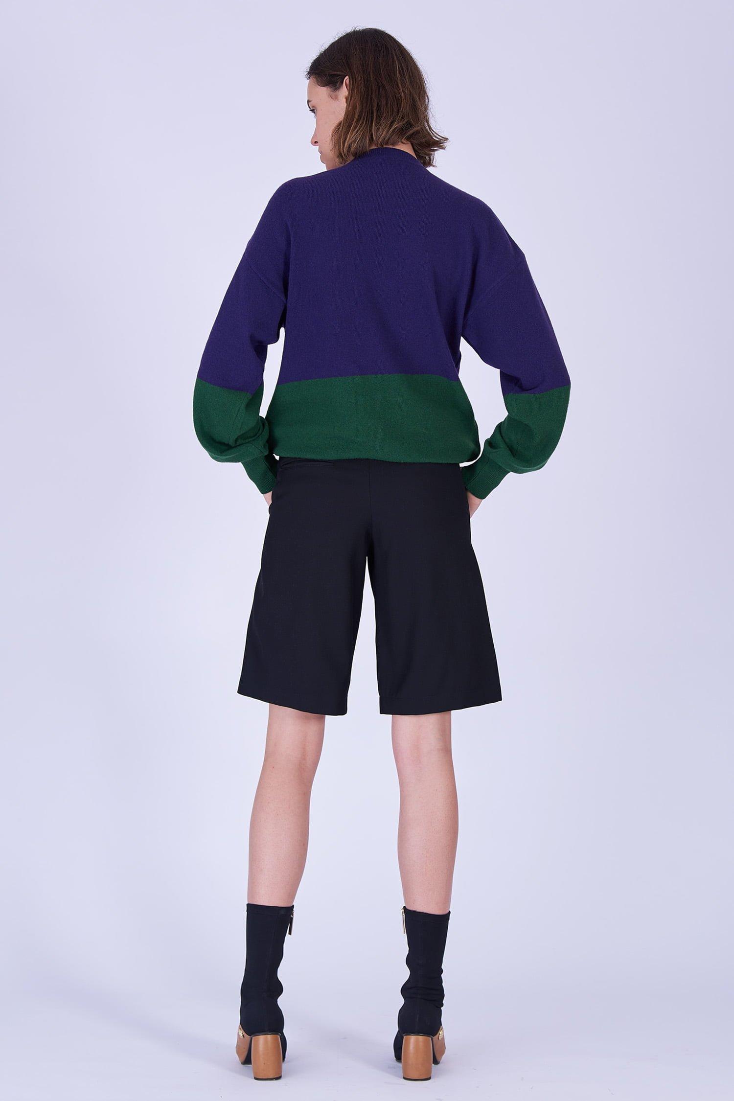 Acephala Fw19 20 Purple Green Bodybuilder Jumper Black Shorts Fioletowo Zielony Sweter Czarne Szorty Back 1