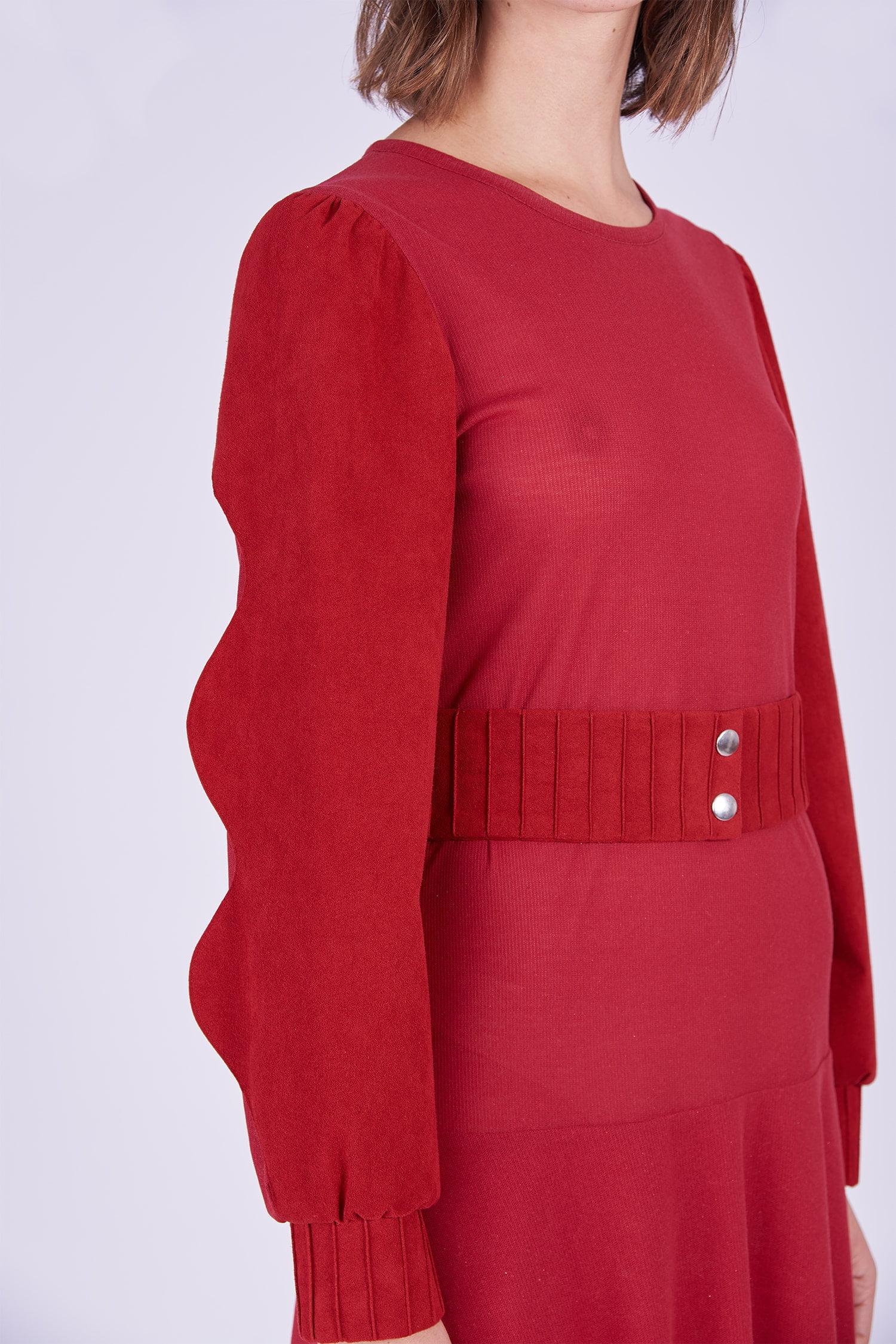 Acephala Ps2020 Red Maxi Evening Dress Czerwona Suknia Wieczorowa Detail