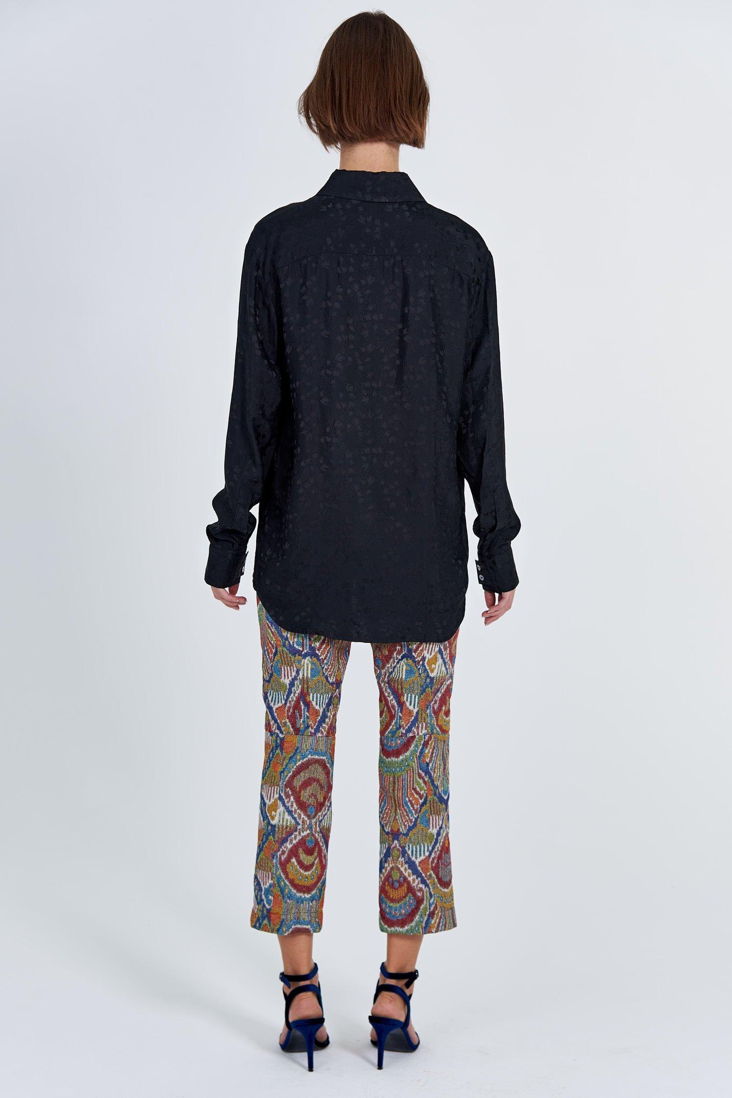 Acephala Fw 2020 21 Black Jacquard Shirt Jacquard Trousers Back