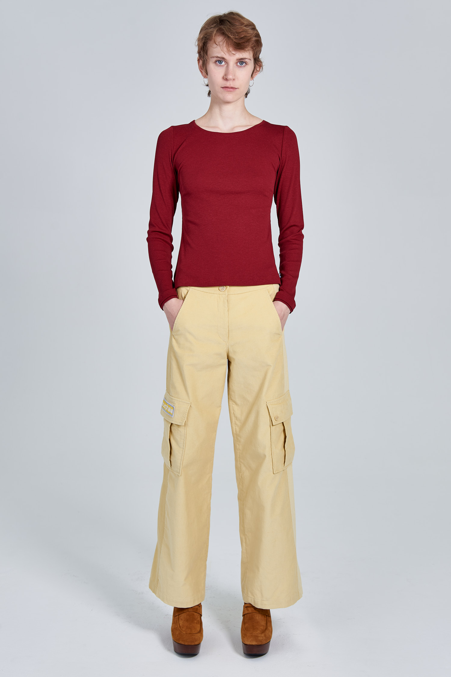 Acephala Fw 2020 21 Red Longsleeve Yellow Corduroy Trousers