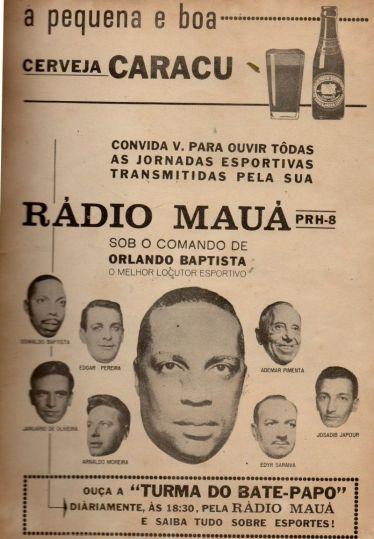 1965 - Ru00E1dio Mauu00E1 - equipe esportiva