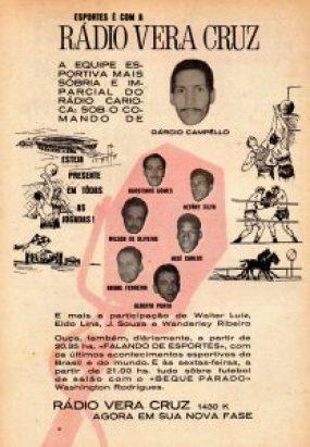 1966 - Rádio Vera Cruz - equipe esportiva