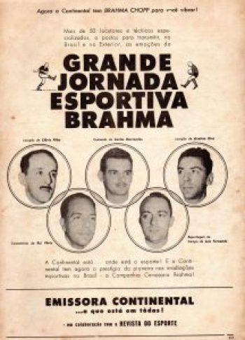 1963 - Emissora Continental - equipe esportiva
