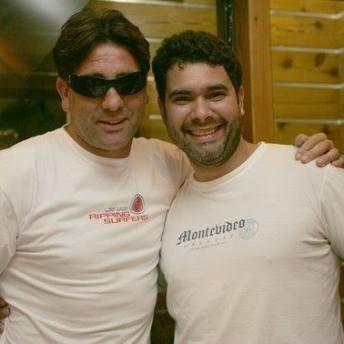 O biografado e Marcos Eduardo Neves