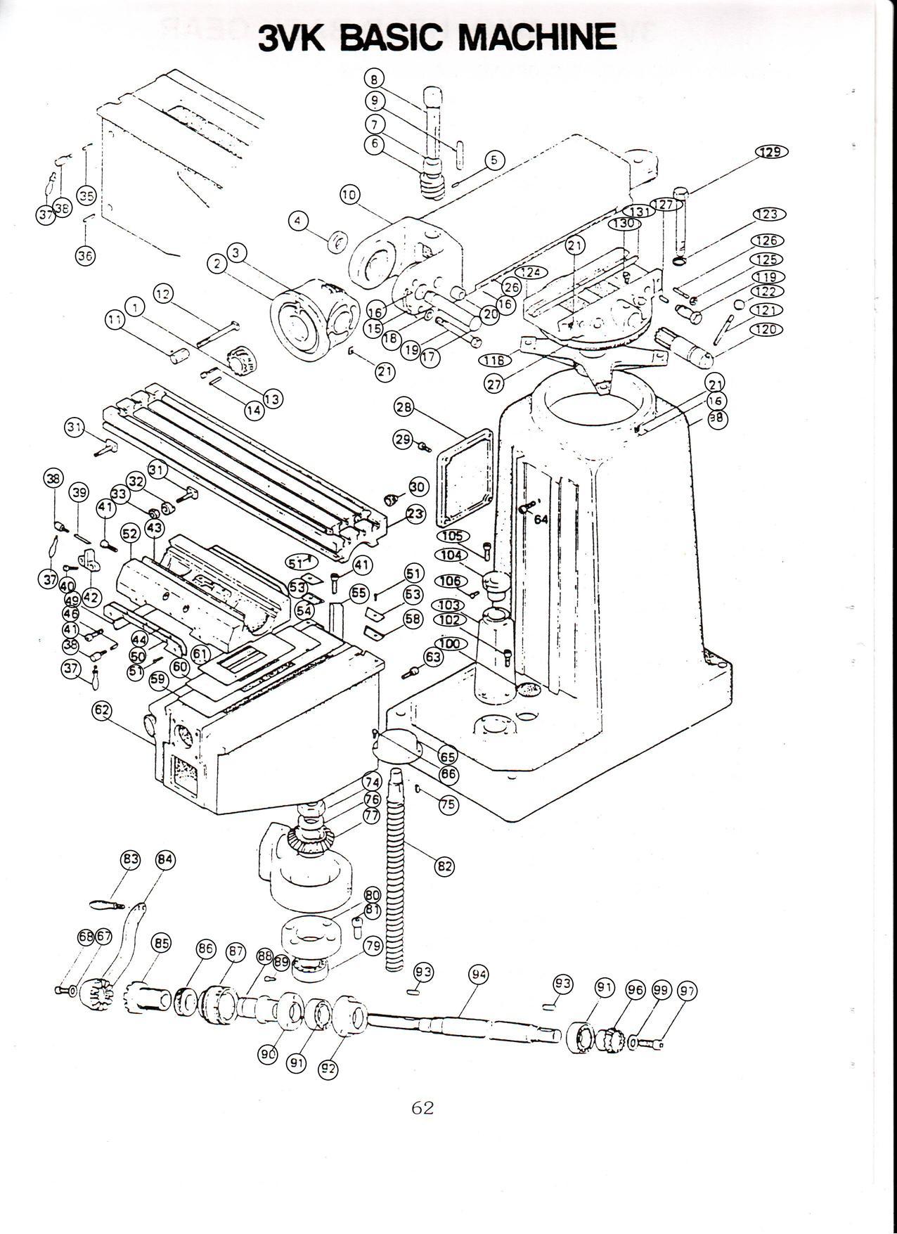 Ultima 3VS/3VK/3VKH Basic Machine [Mouse-over Pricing for