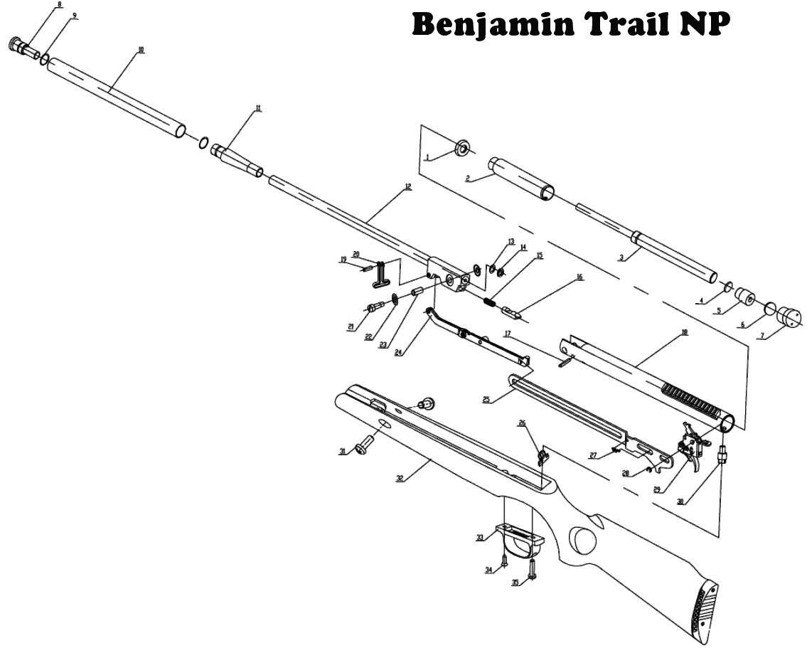 AIRGUN CROSMAN BENJAMIN TRAIL 4.5 AIRGUN
