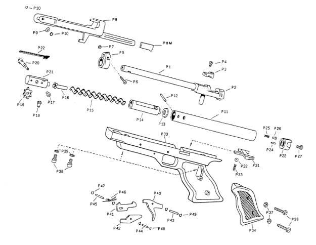Parts Breakdown of Air Pistol Cometa