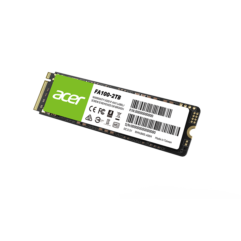Acer FA100 M.2 PCIe NVMe SSD, 3D NAND, read-speed up to