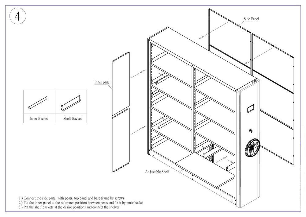 Mobile library shelving systems for filing storage