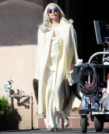 Lady Gaga 1268 - Filming Scene In American Horror