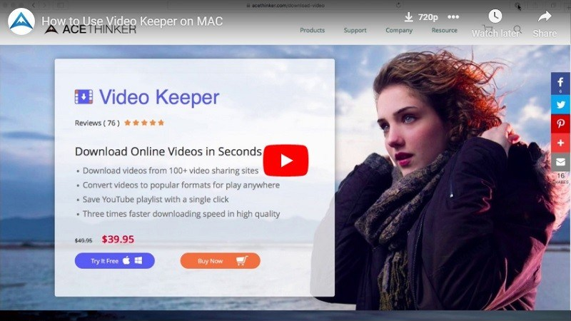 Video Keeper für Mac Thumbnail