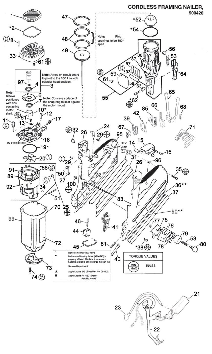 Paslode Framing Nailer Spare Parts.Paslode Straight Finish Nailer ...