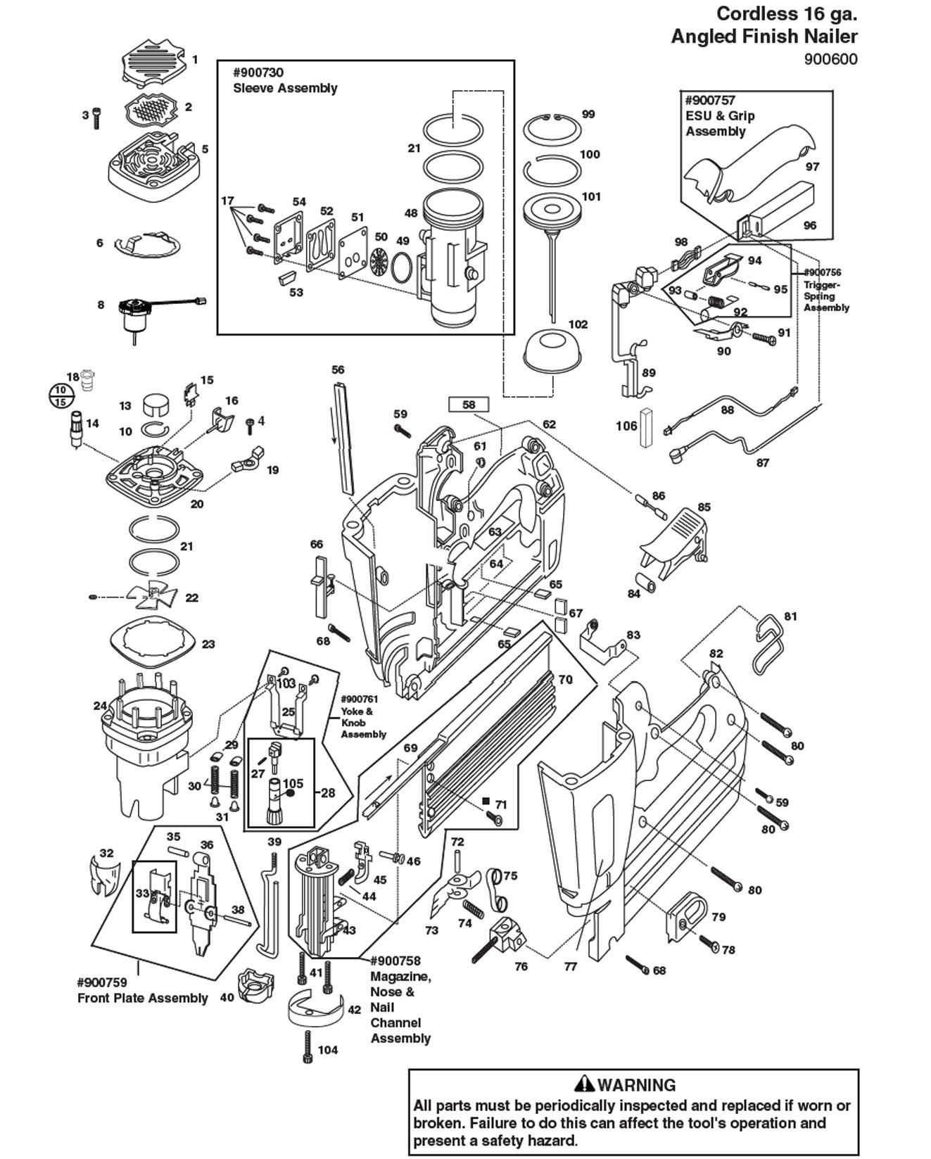 Paslode Im250 Parts Diagram