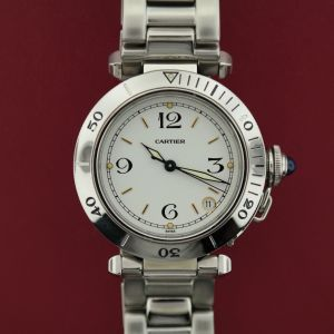 Cartier Pasha Automatic Stainless Steel Midsize Rotable Bezel