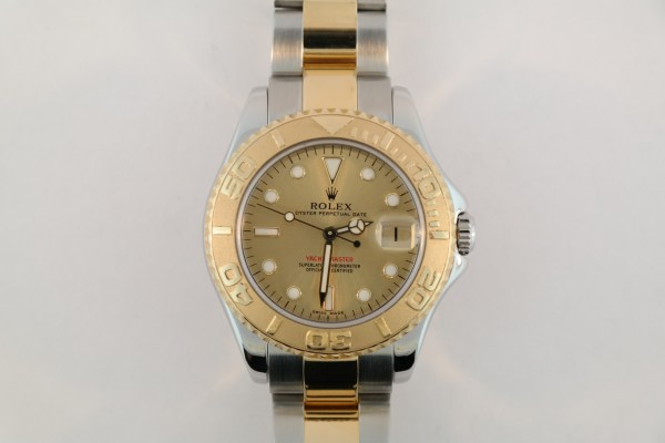 Midsize Rolex Yacht-Master 168623 Champagne