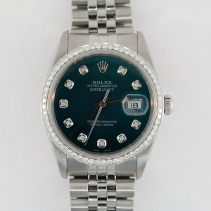 Rolex Datejust 16200 Dark Teal Diamond Dial