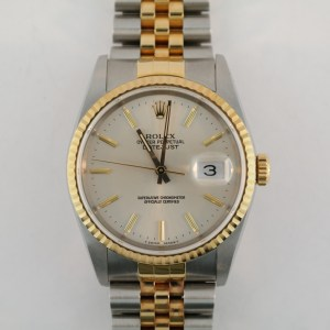Rolex Datejust 16233 Silver Dial MINT