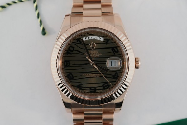 Rolex Day-Date II 218235 Chocolate Wave Dial
