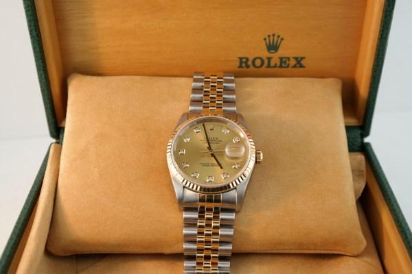 Rolex Datejust 16233 Champagne Diamond Dial