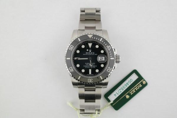 Men's Rolex Submariner 116610LN Black Ceramic Bezel Black Dial Box & Papers 2016