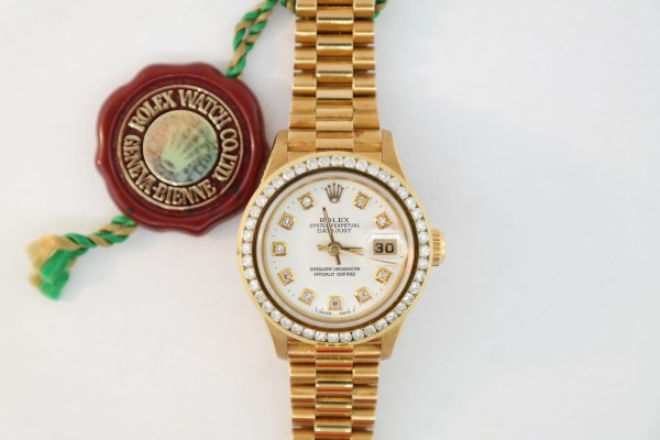 Ladies Rolex Datejust 69178 President Diamond Dial & Bezel