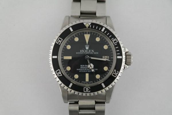 "Vintage Rolex Sea-Dweller 1665 ""Great White"" Matte Black Dial Oyster Circa 1979"