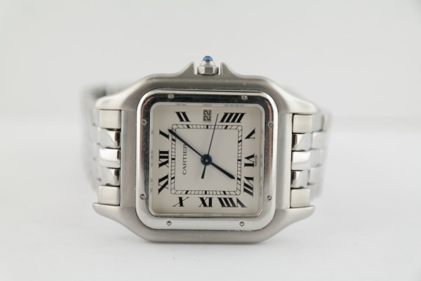 Cartier Panthere Jumbo 1300 Stainless Steel Matte Silver Roman Dial