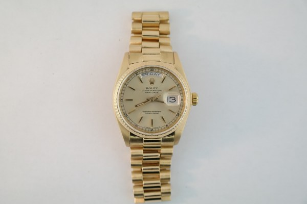 Men's Rolex Day-Date 18038 President Light Champagne Dial 18K Yellow Gold 1978