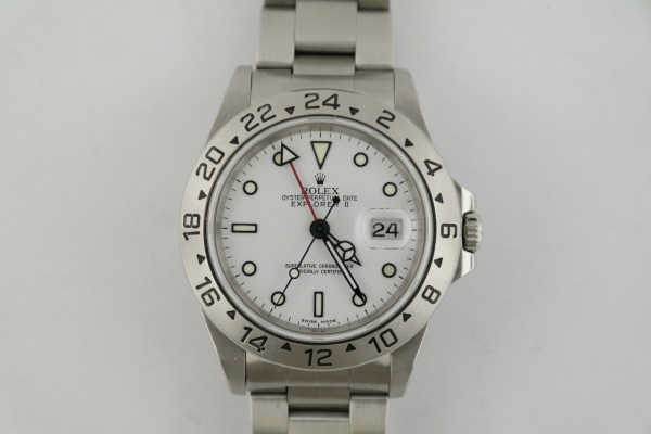 Men's Rolex Explorer II 16570 White Dial Stainless Steel Oyster Band Circa 2001