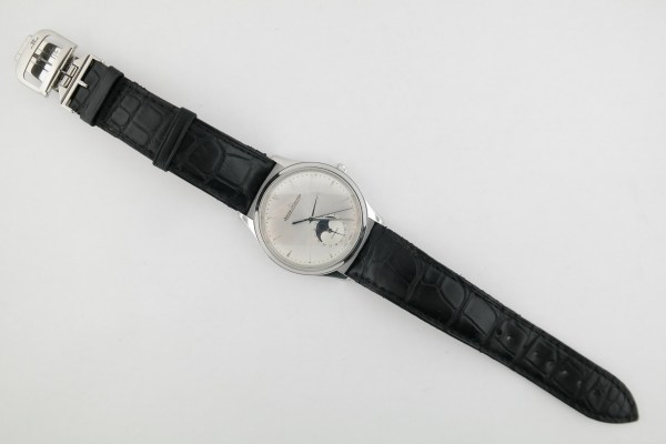 Jaeger-LeCoultre Master Ultra Thin Q1368420 Moon 39mm Black Leather Strap