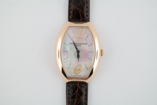 Ladies Vacheron Constantin 25040 Egerie Mother of Pearl Dial Rose Gold Quartz