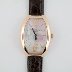 Ladies Vacheron Constantin 25040 Egerie Mother of Pearl Dial Rose Gold Quartz