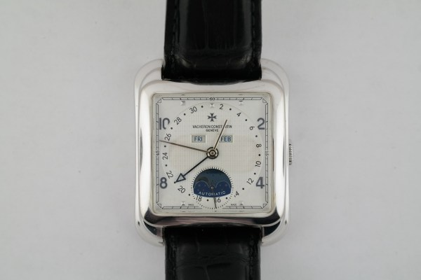 Vacheron Constantin Toledo 1952 47300/000G 18K White Gold Triple Date Moonphase