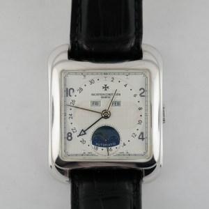 Vacheron Constantin Toledo 1952 47300/000G 18K White Gold Triple Date Moonphase