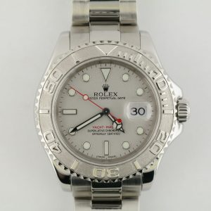 Mens Rolex Yacht-Master 16622 Platinum Dial Oyster Band Platinum Bezel Year 1999